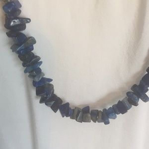 Jewelry - Vintage long Blue Rock necklace